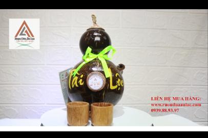 Video rượu dừa Bến Tre bình hồ lô